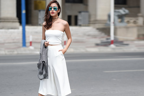 Basic Culotte -White