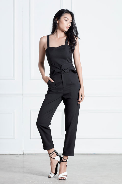High Waist Pencil Pants - Black