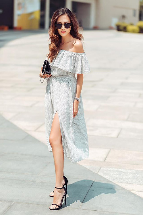 OFF SHOULDER MIDI