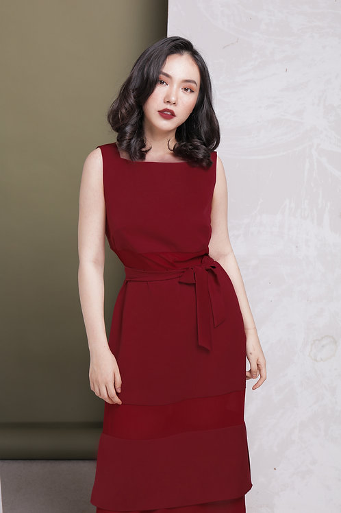 Ao Dai Inspired Dress - Red