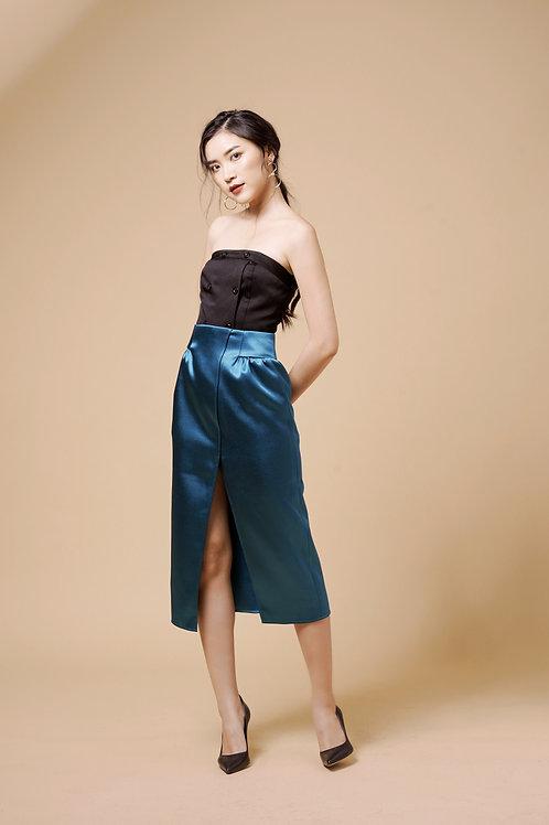 Tafta Tulip Skirt - Mallar Green
