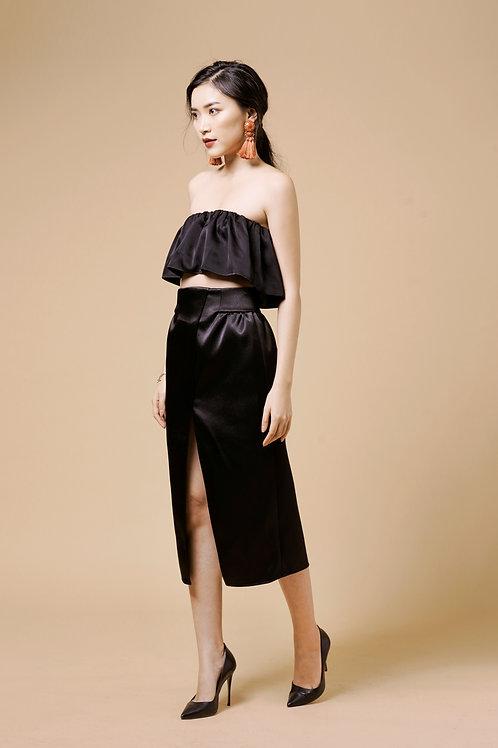 Tafta Tulip Skirt - Black