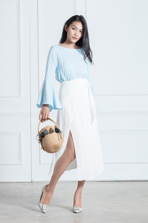 Bell Sleeve Top - Blue