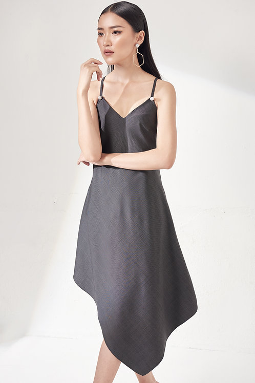 Asymmetrical Tank Dress - Grey