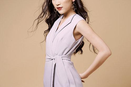 Long Vest Dress - Violet Grey