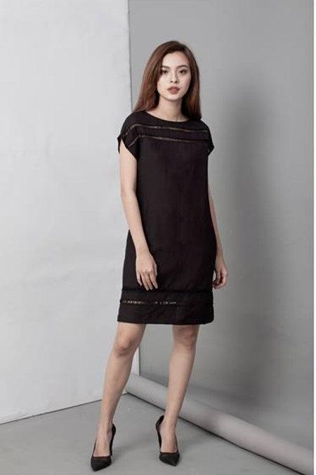 SHIFT DRESS-BLACK