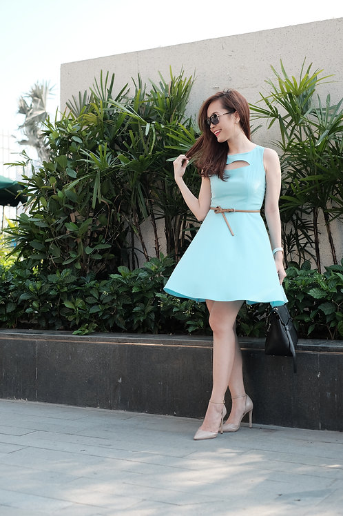 PASTEL DRESS-BLUE