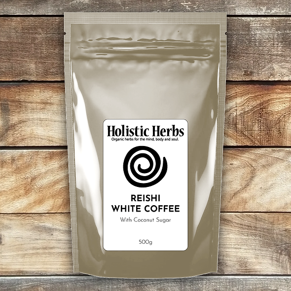 Reishi coconut white coffee packaging