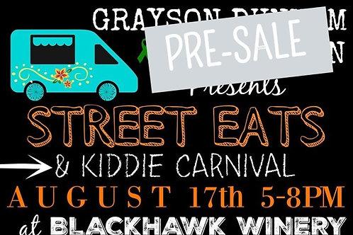 Street Eats & Kiddie Carnival Pre-Sale T-Shirts