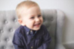 Grayson smiling