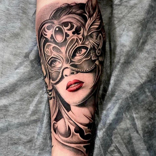 Portrait beautiful woman tattoo.JPG