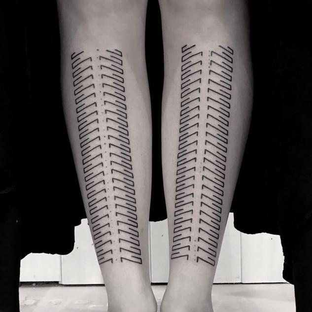 linework geometric tattoo