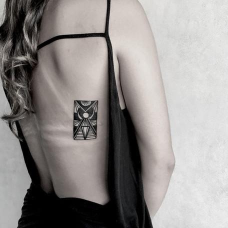 by kim angel tattu geometric