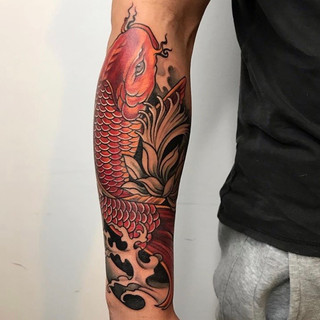 Colour Koy fish tattoo.JPG