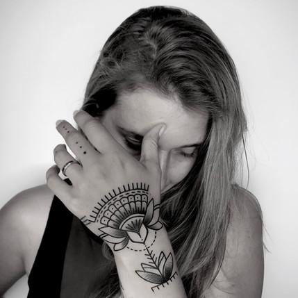 ornate hand tattoo