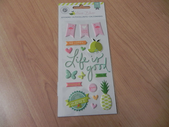 PP Citrus bliss puffy stickers