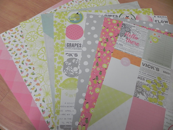 "PP ""Citrus Bliss"" double-sided papers"