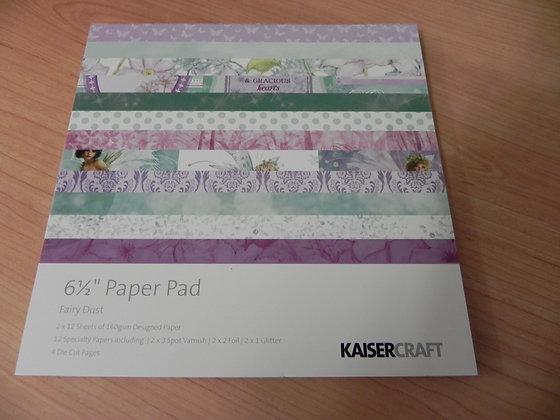"""K """"Fairy dust"""" 6.5x6.5 paper pad"""