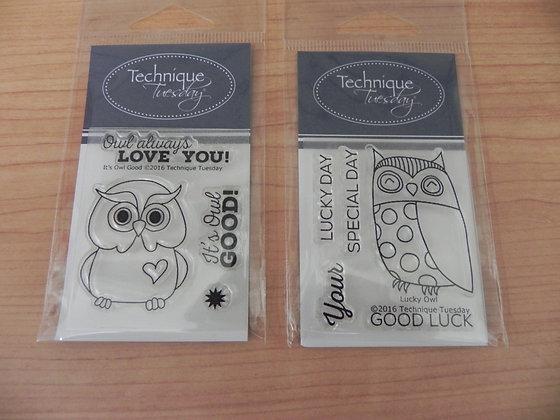 TT sml owl stamp