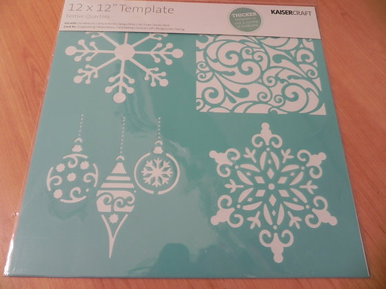 "K 12x12 template ""festive quarters"""