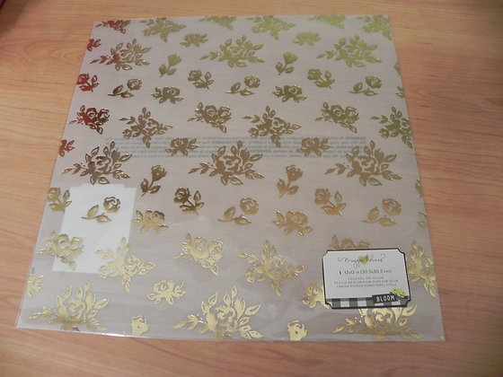 MH Bloom gold foil vellum