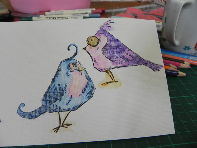 How to make a 'crazy bird' mixed media card.