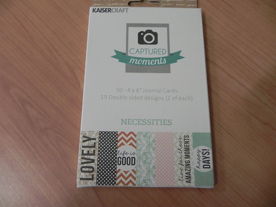 K Necessities 4x6 CM journal cards