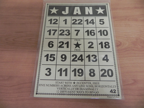 JBS Bingo Calendar Set
