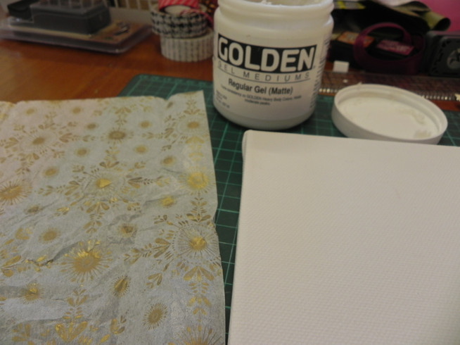How to make a mini mixed-media canvas