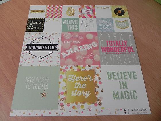 W Storyteller card paper