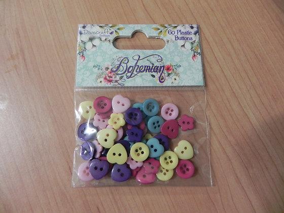 D Bohemian plastic buttons