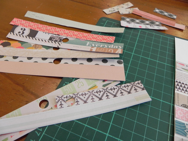 How to use scraps on a mixed-media page