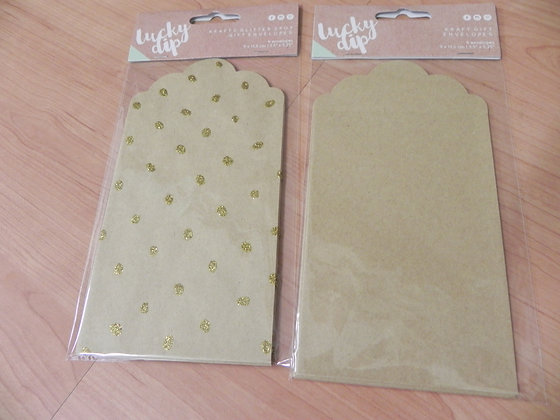 K Lucky Dip Kraft envelopes