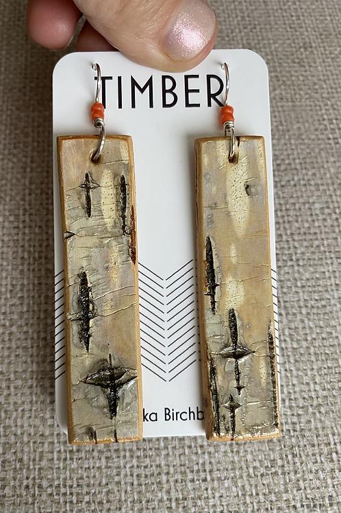 Snow bird earrings.