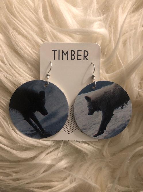 Shadow Wolf earrings