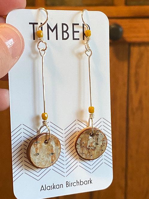 Golden light earrings