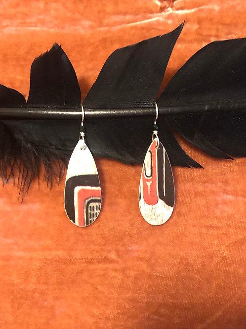 Raven earrings
