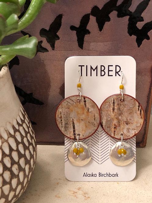 Gold rush earrings.