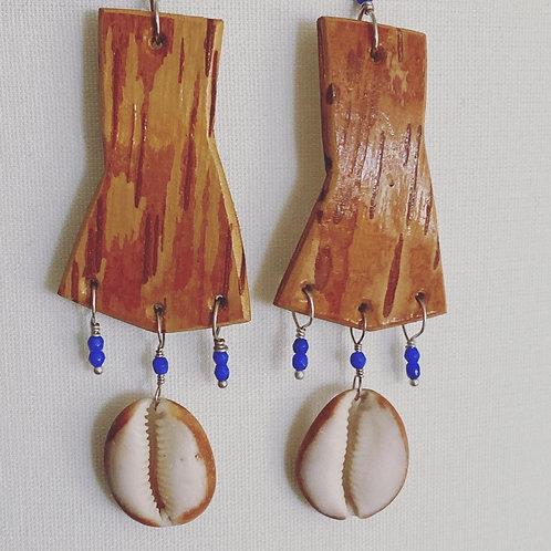 Turning tide earrings.