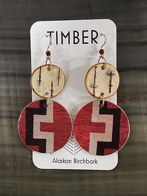 Tundra weave earrings
