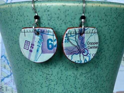 Copper center earrings