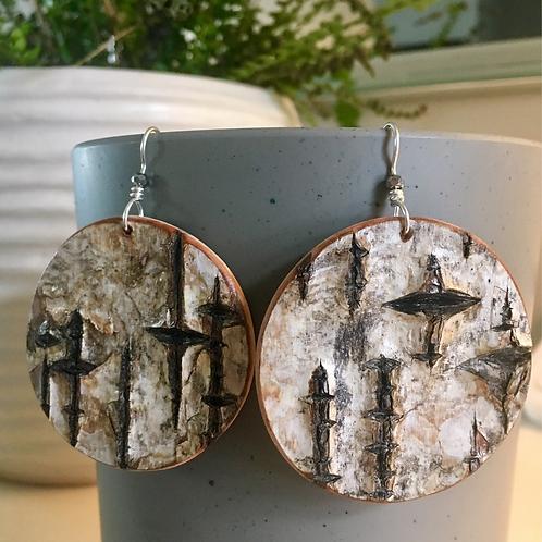 Birch Full Moon Earrings
