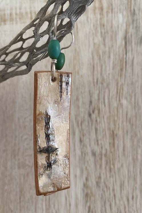 Palo verde earrings.