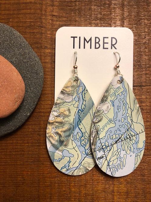 Copper river earrings