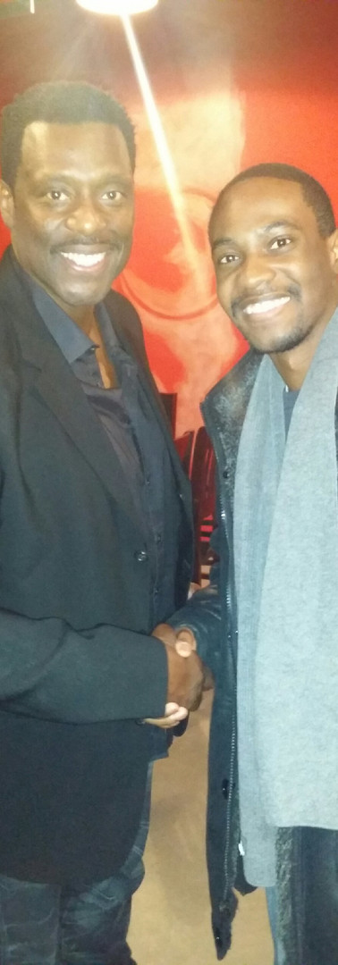 With Eamonn Walker of Chicago Fire