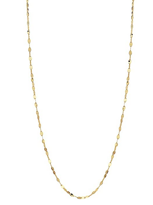 0K Solid Gold 2.0MM Diamond Cut Mirror Chain Necklace and Anklet - Unisex Sizes