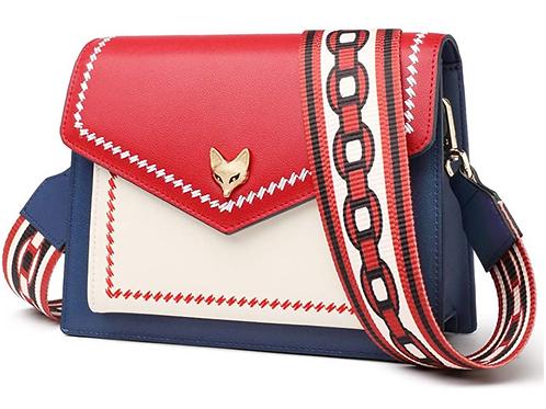 Women Leather Crossbody Bag Small Purse Colorful Crossbody Shoulder Bag