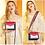 Thumbnail: Women Leather Crossbody Bag Small Purse Colorful Crossbody Shoulder Bag