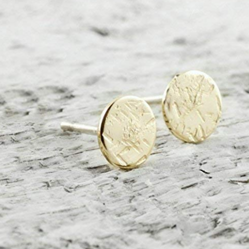 Click image to open expanded view Tiny Disc Stud Earrings In 14k Gold Filled Jew