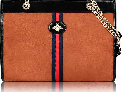 Beatfull Designer Bee Soft Tote Handbag for Women, Fashion Tiger Top Handle Bag